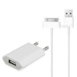 KIT-2-EN-1-CHARGEUR-POUR-IPHONE-4-IPOD-IPAD-30-PIN-CABLE-USB-CHARGEUR-SECTEUR