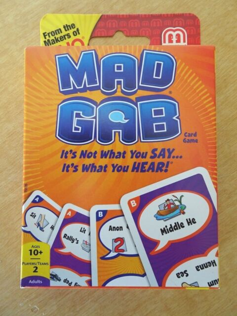 Mattel Games T5135 Mad Gab Picto Gabs Card Game Ebay