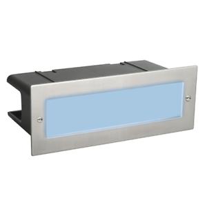 Stainless Steel 5W BLUE LED Brick Light IP54 Garden Wall Pathway Lighting