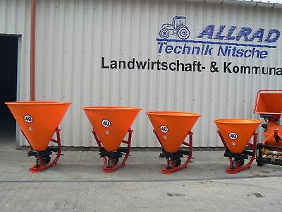 1+2 mit Abdeckplane Streuer Salzstreuer Düngerstreuer 400L Kat