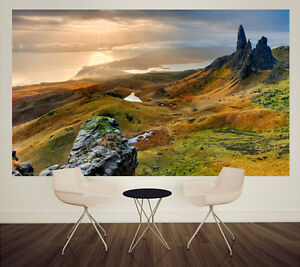 ireland landscape scene with mountains wall mural self adhesiveimage is loading ireland landscape scene with mountains wall mural self