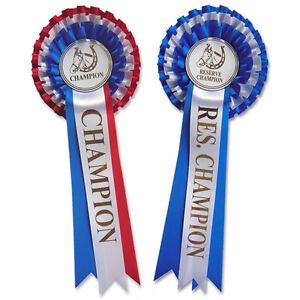 champion rosette and reserve champion rosette double pack ebay