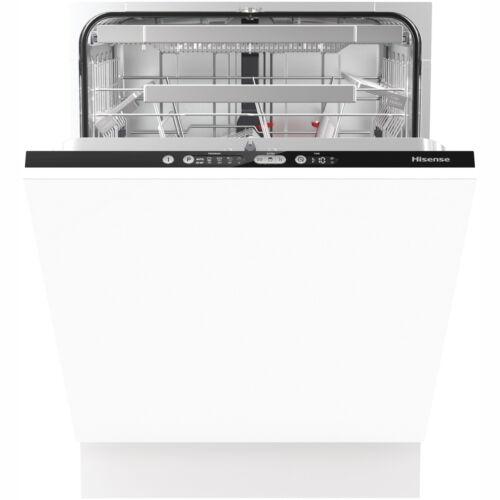 Fully Integrated Dishwasher Full Size 60cm 16 Place Black Hisense HV6131UK A++