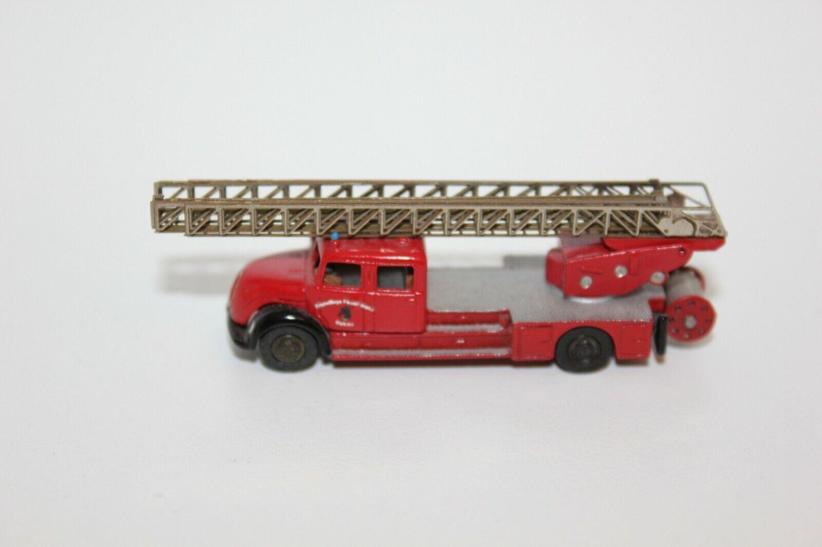 Marks N Feuerwehr Magirus DL 25 H Rundhauber doppelkabine Drehleiter, aus Metall