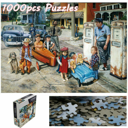 1000 Piece Children and Cars Jigsaw Puzzle Assembling Puzzles Educational Games