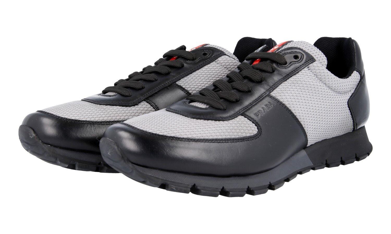 LUXUS PRADA SNEAKER SCHUHE 4E2642 black grey NEU NEW 9,5 43,5 44