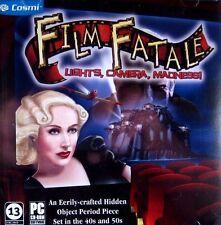 Film Fatale: Lights, Camera, Madness! (New PC CD-ROM) Windows Hidden Object Game
