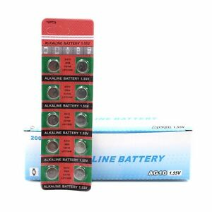 10pcs-AG10-389-LR1130-189-Button-Cell-Coin-Battery-Electronics-Watch-Accessories