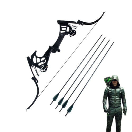 Arrow Season 5 Oliver Queen Green Arrow Bow and Arrow Cosplay Prop