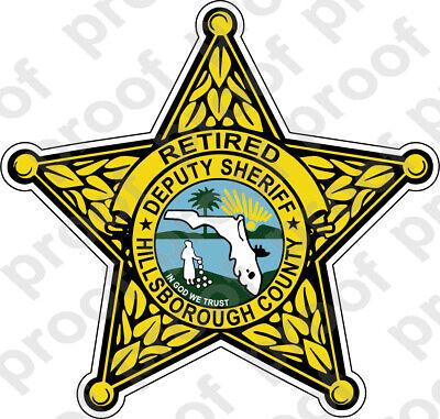 STICKER SHERIFF HILLSBOROUGH COUNTY RETIRED