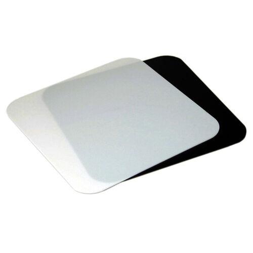 2-in-1 de acrílico de descansillo para fotografía de producto mesa grabación-blanco negro 30x30x3 cm