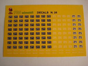 DECAL-1-43-PROVA-MO-TARGHE-FERRARI-N-26-GENERICA-DECALS
