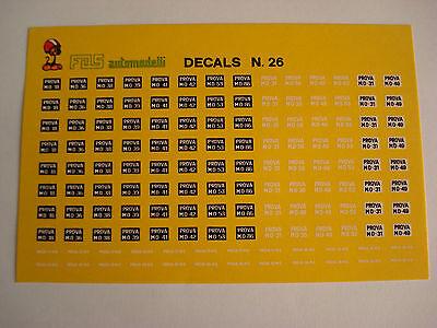 DECALS KIT 1//43 LOGHI SCUDETTI AUTO RUOTE VOLANTI FERRARI DECALS N.2 DECAL