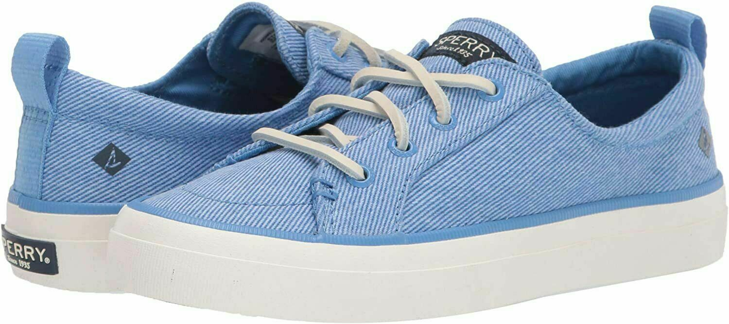 Sperry Crest Vibe Washed Twill Boat Shoes Sneakers, NWOB - Womens 7.5 - Blue