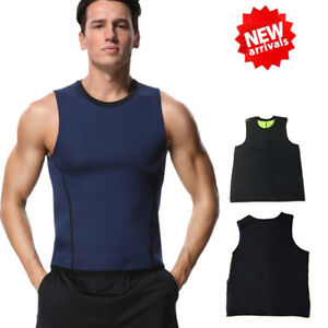 e53810a8185242 Men Neoprene Vest Cami Hot Shaper Gym Sauna Sweat Thermal Tank ...