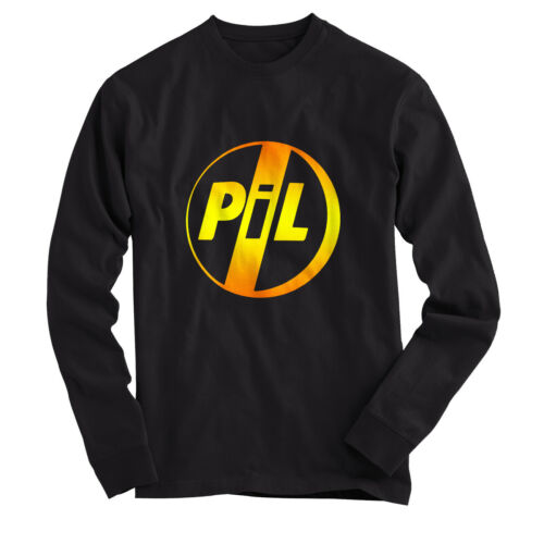 T SHIRT Long Sleeves Black All Size PUBLIC IMAGE Ltd PiL