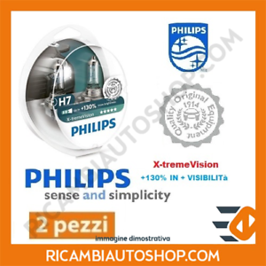 2 LAMPADINE H7 X-TREME VISION PHILIPS ALFA ROMEO MITO 1.4 TURBO MULTIAIR KW:125