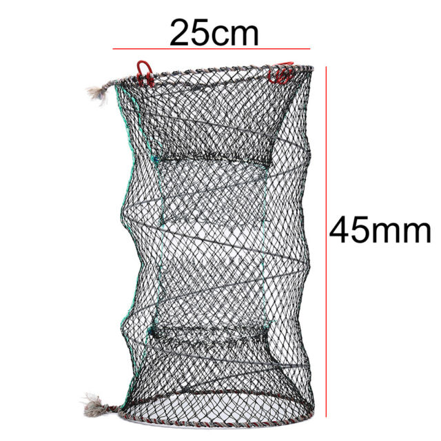 Crab Crayfish Lobster Catcher Pot Fish Net Eel Prawn Shrimp Live Bait Pip UK
