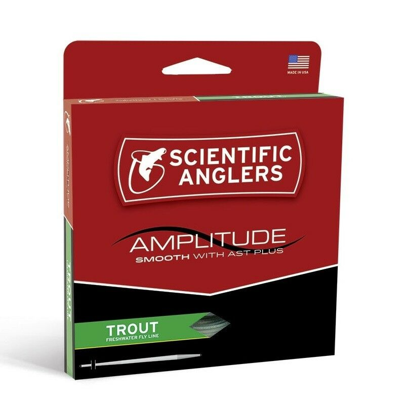 S A Amplitude Smooth Trout Fly  Line - WF5F - New  outlet on sale