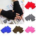 Men Women Soft Half Finger Gloves Winter Warmer Knitted Mittens Fingerless HOT Q