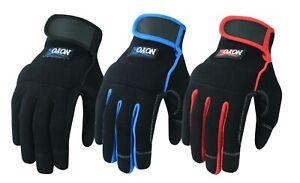 Work-Gloves-Hand-Protection-Mechanics-Tradesman-Farmer-039-s-Gardening-DIY-Builders