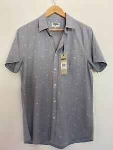 Maddox Men's Size M Short Sleeve Collared Shirt Button Up Front BNWT RRP$59.95