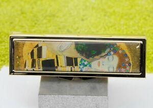 Fridolin-7-Tage-Pillendose-mit-Spiegel-Gustav-Klimt-Der-Kuss