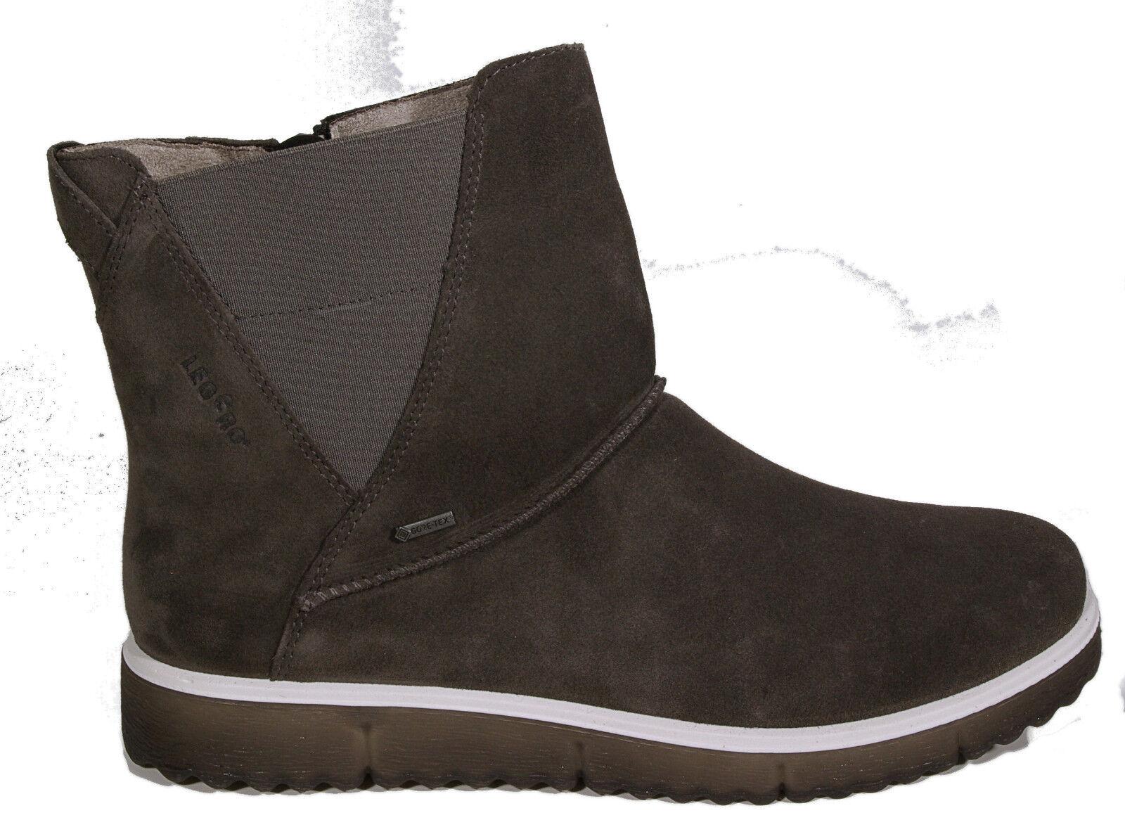 stövlar Ankle Boot grå läder Gore Tex Värme Lining Zip ny