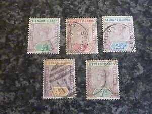 LEEWARD-ISLANDS-POSTAGE-REVENUE-STAMPS-SG1-4-amp-6-1890-FINE-USED
