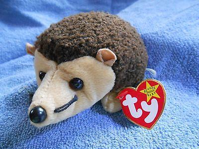 Ty Beanie Babies Prickles the Hedgehog,1999 PE Pellets Mint w// Tag