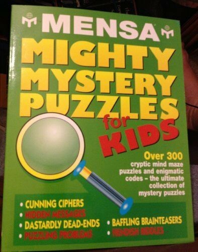 Mensa Mighty Mystery Puzzles for Kids By Robert Allen
