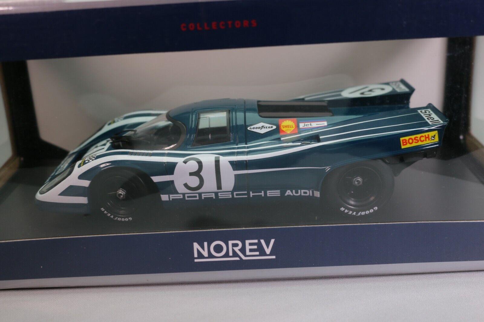ZD024 NOREV 187583 Voiture 1 18 Porsche 917K Watkins Glen - Hours 1970 blu verde