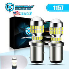 Led Front Turn Signal Drl Parking Light Bulbs White 6000k 1157 1156 7528 2pcs