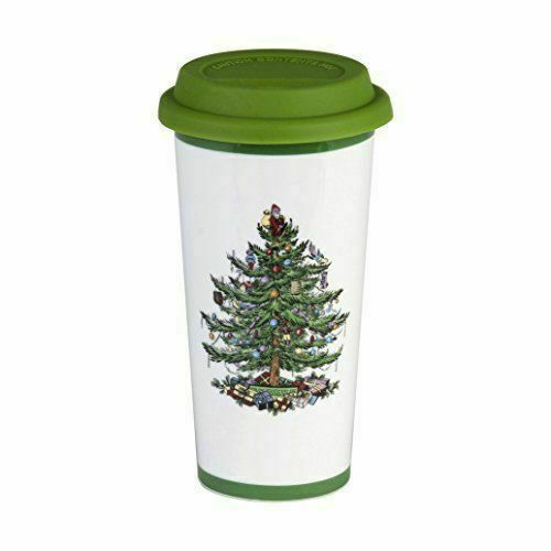 Spode Christmas Tree Sale: Spode Christmas Tree Travel Mug With Silicone Lid For Sale