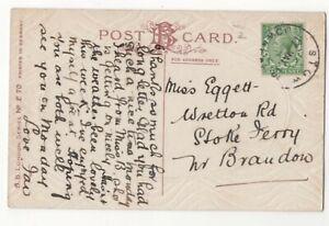 Stow-Downham-17-mai-1913-Caoutchouc-Handstamp-postmark-Norfolk-106-C