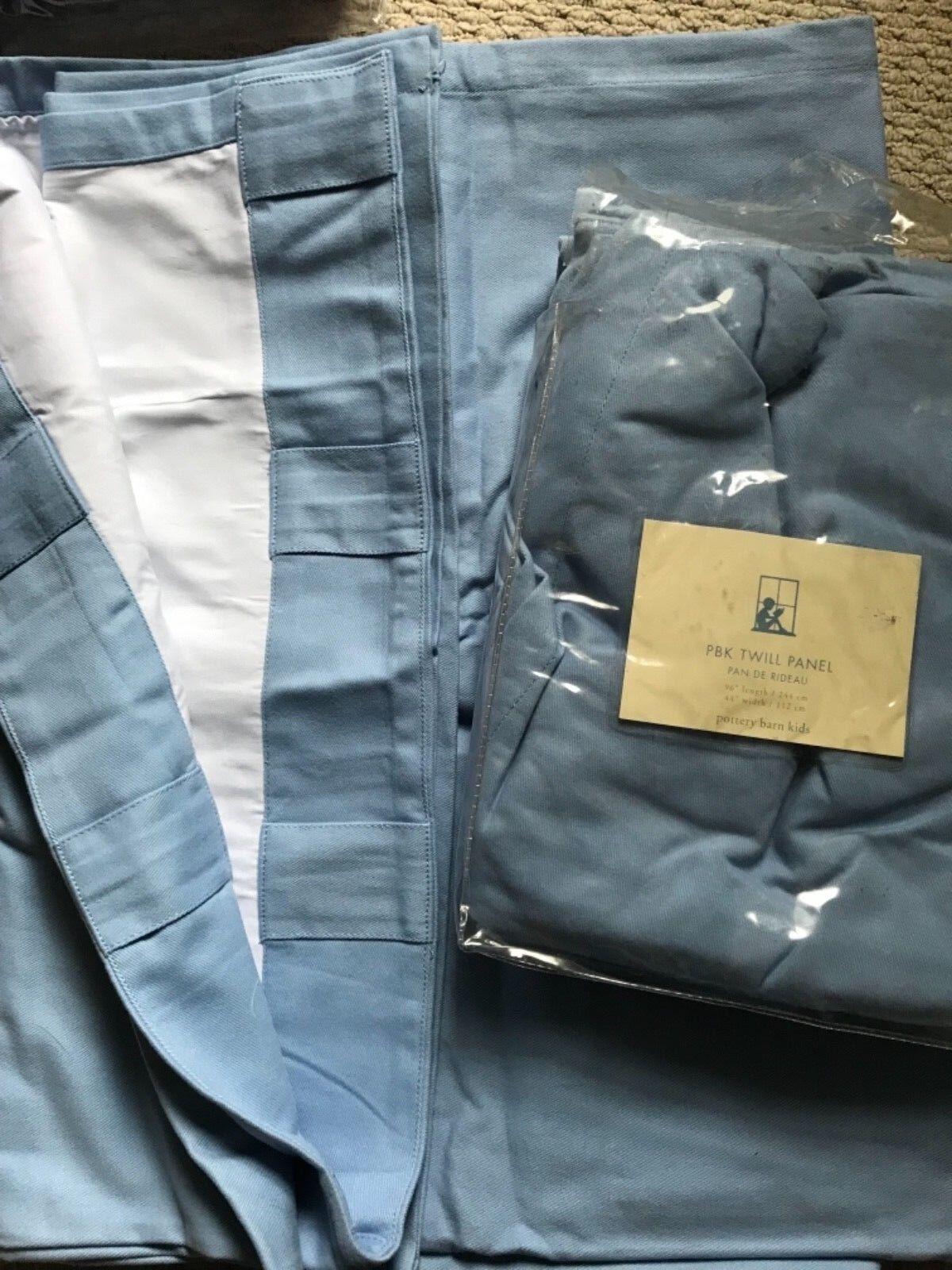 POTTERY BARN Kids bleu clair panneau drapé rideau 96  S 2  19