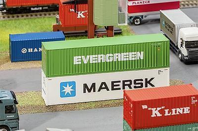 Faller 180846 Ho 40' Hi-cube Container Evergreen #neu In Ovp #-mostra Il Titolo Originale