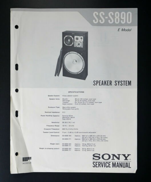 Sony Ss Service Manual  Wiring
