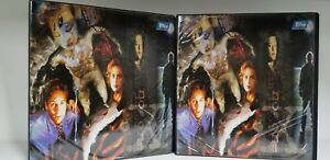 LOT-of-2-X-Files-Trading-Card-Binder-Album-Topps-with-PROMO