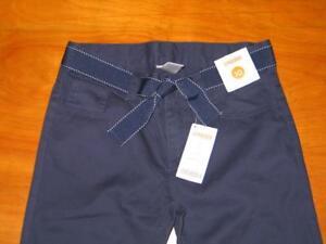 Gymboree Uniform Shop Navy Blue Bermuda Shorts w//Belt  4 5 6 8 10 NEW