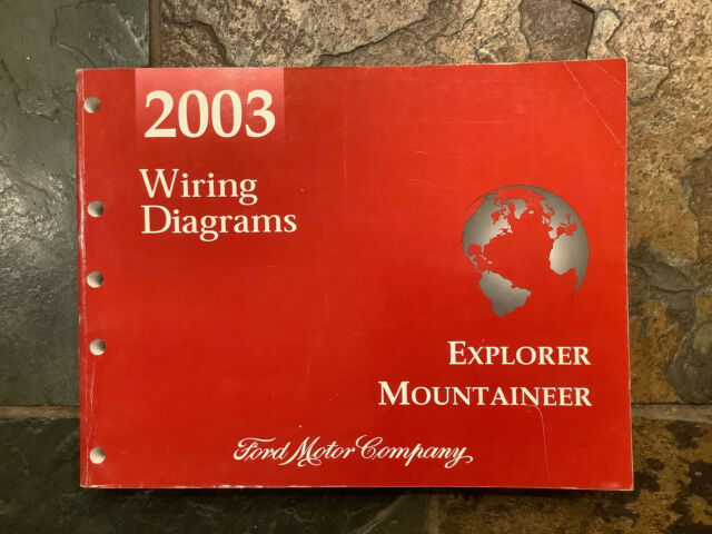 2003 Ford Explorer Mercury Mountaineer Wiring Diagrams Electrical Service Manual