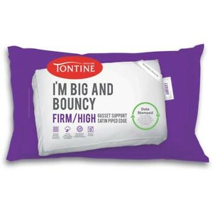 Tontine-I-039-m-BIG-AND-BOUNCY-2-Pack-High-Profile-amp-Firm-Feel-Pillow-Date-Stamped
