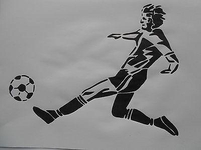 Schablone Fussballer für Textilg. und v.m.  auf A4