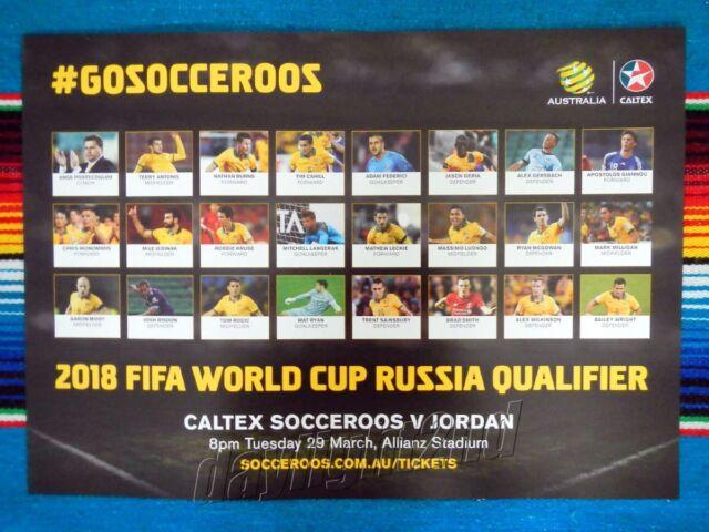 ✺Framed✺ 2016 SOCCEROOS World Cup Poster - 45cm x 32cm x 3cm - Tim Cahill