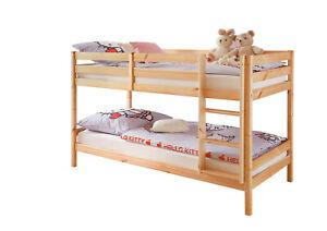 Anke - Letto a castello in legno massiccio, scomponibile ...
