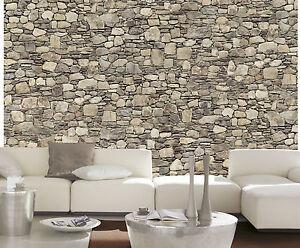 fototapete stones steine stein wand mauer 254x366 xxl poster wand bild tapete ebay. Black Bedroom Furniture Sets. Home Design Ideas