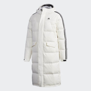 743246828 Details about New Adidas Mens 3STR LONG DUCK DOWN JACKET WHITE DT7921 PARKA  PUFFER S-3XL TAKSE