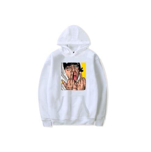 Lil Xan Xanarchy Tear Edition Hoodie Hip Hop Sweatshirt Pullover Jacket Sweats