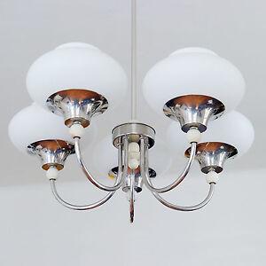 Kronleuchter Glas 70er kronleuchter glas chrom original ddr vintage lampe
