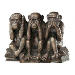 The-Hear-No-See-No-Speak-No-Evil-Design-Toscano-Monkeys-Finished-In-Bronze